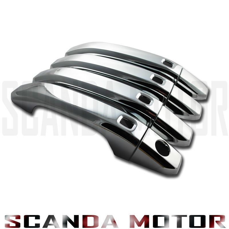 15 19 Chevy Tahoe Gmc Yukon Chrome Door Handle Cover 4 Smart Keys 1 Keyhole Ebay Chrome Door Handles Door Handles Chevy Tahoe