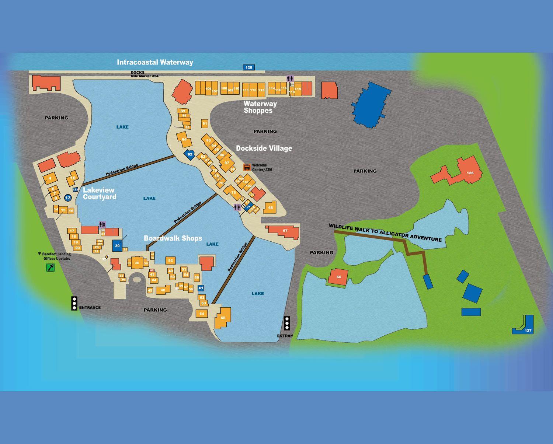 Map of Barefoot Landing Myrtle Beach, SC (2014