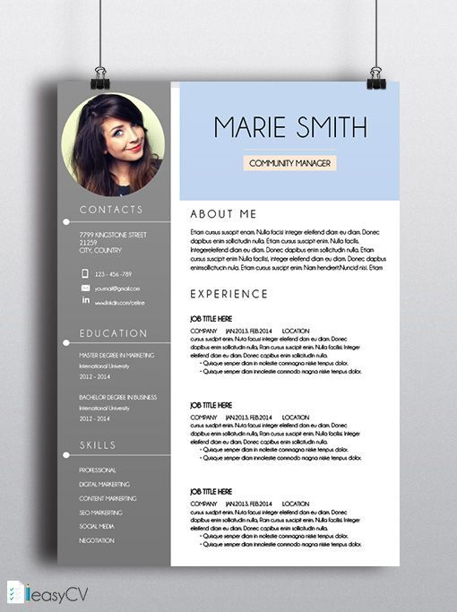 Most Of People Who Apply For A Job Have The Same Resume Resume Design Resume Design Creative Cv Resume Template