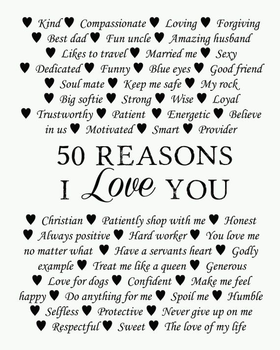 50 Reasons Why We Love You 50th Birthday Present 30th 40th Etsy In 2021 50th Birthday Presents Reasons I Love You Love You