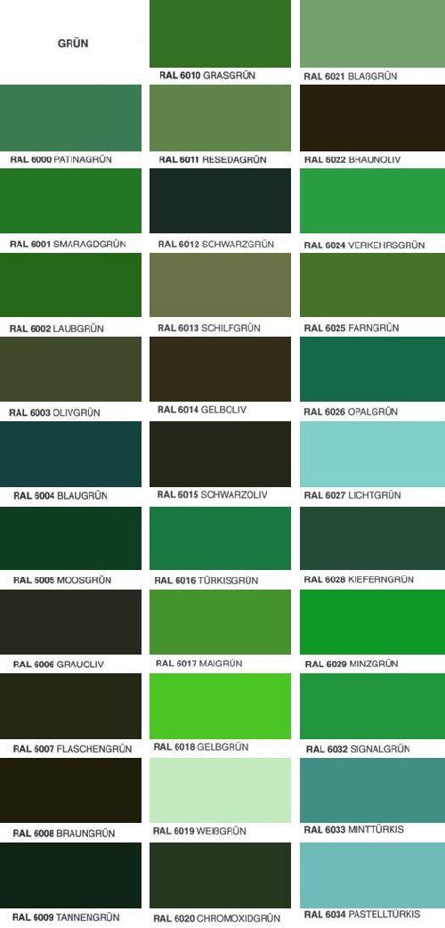 Ral farbton autolack haus pinterest - Farbmuster wandfarbe ...