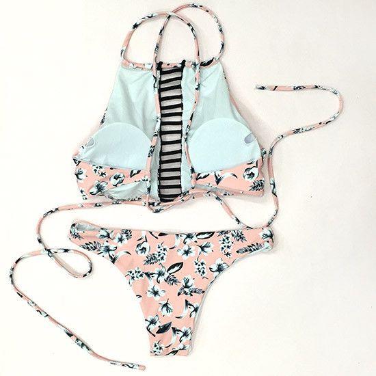 Cupshe Read  Sunshine Cross Back Bikini Set