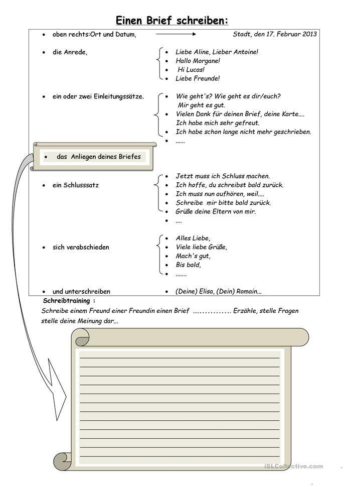 Einen Brief schreiben | Pinterest | Schreiben, Schreiben ...