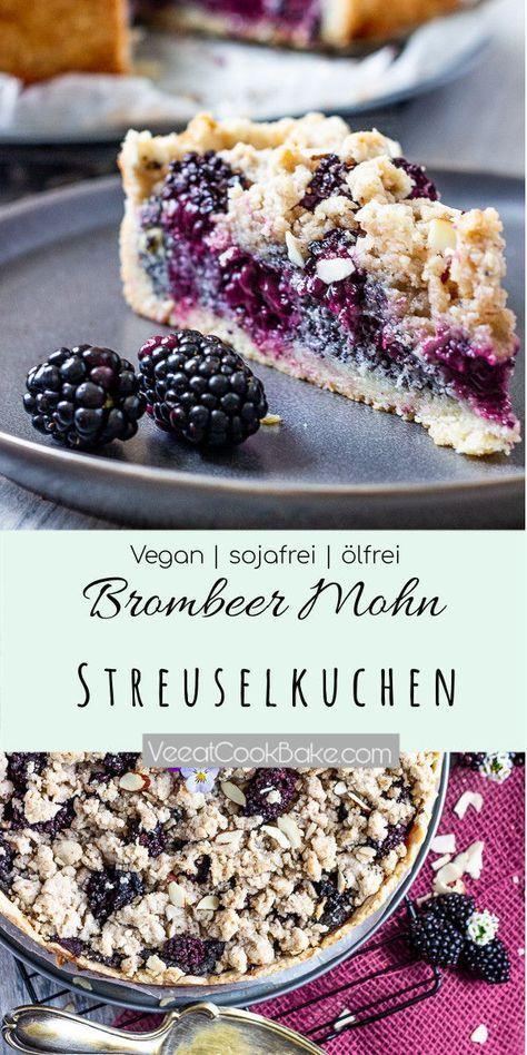 Einfaches Rezept für einen veganen Bromberer Mohn Streuselkuchen. Dieser deutsc…