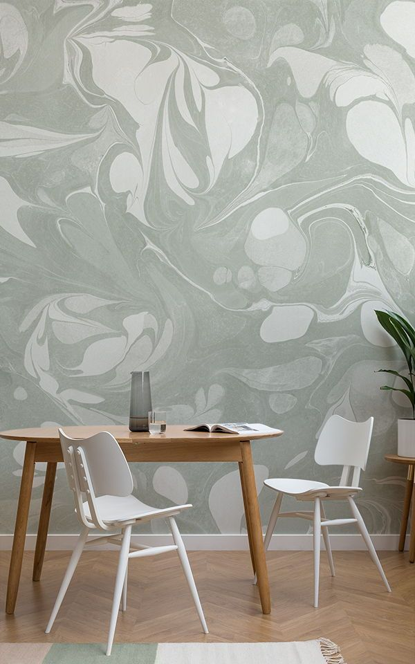 Swish Salbeigrüne Marmorierte Wandbild Tapete | Tapeten Wandbilder |  Pinterest | Tapeten, Wände Und