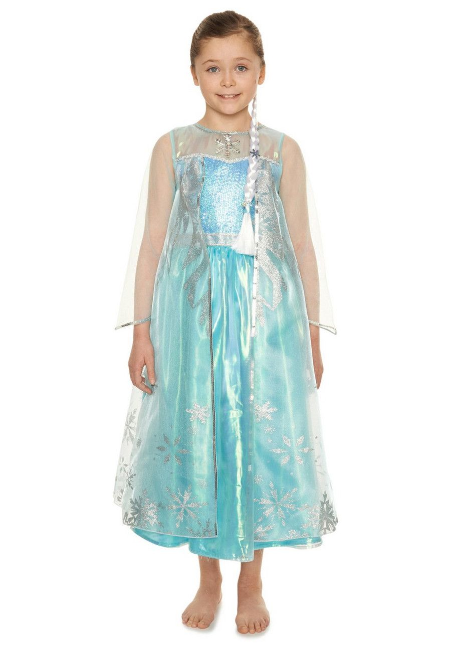 Clothing at Tesco | Disney Frozen Elsa Premium Dress-Up Costume ...