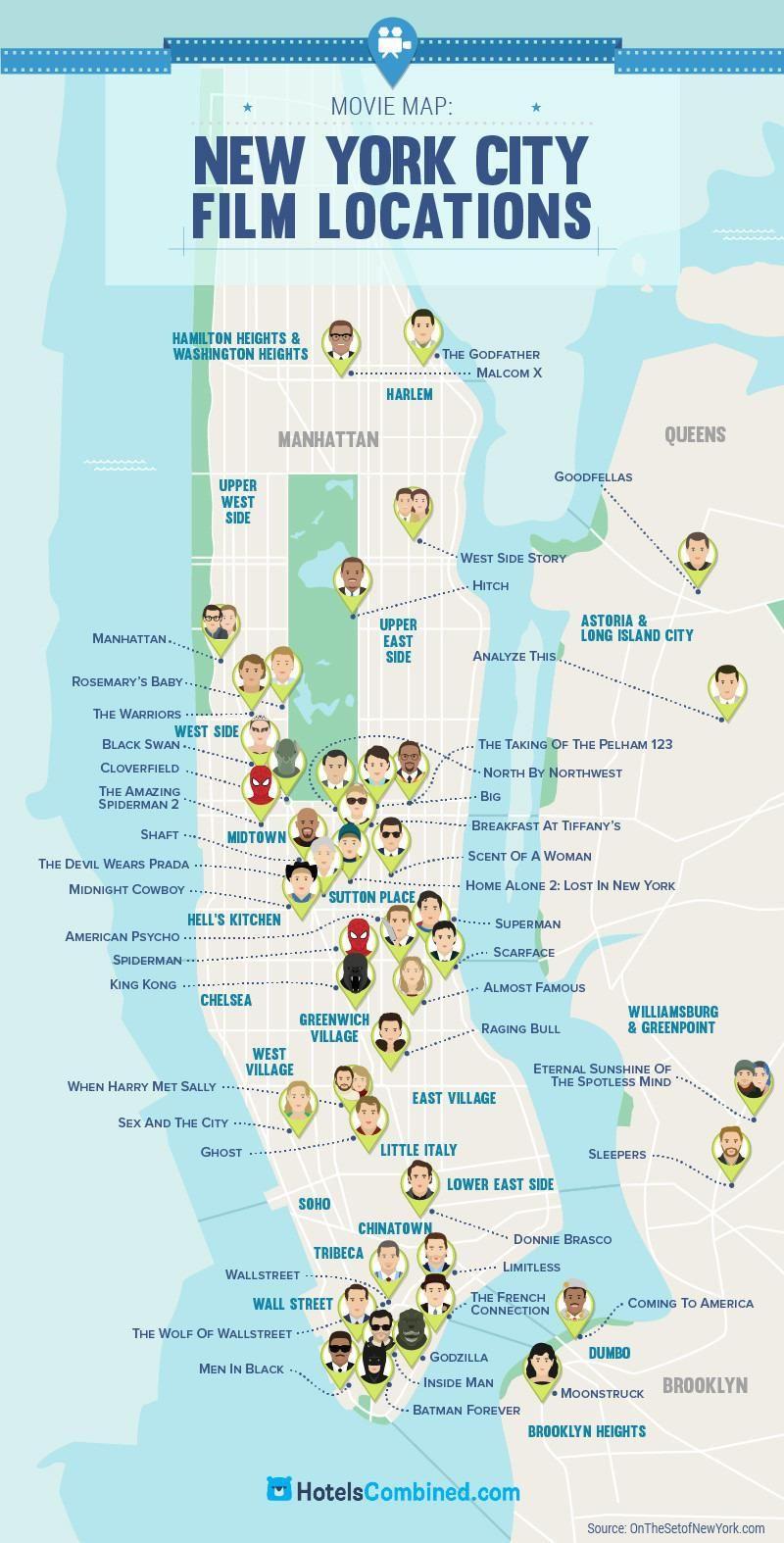 Manhattan Neighbourhoods  Map Of New York New York - New york city map usa