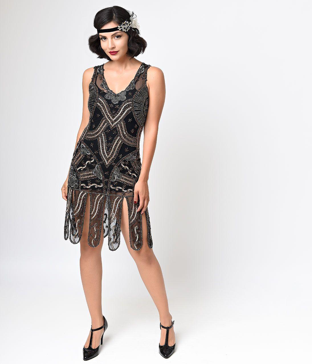 Shop 1920s Plus Size Dresses and Costumes | Black flapper ...
