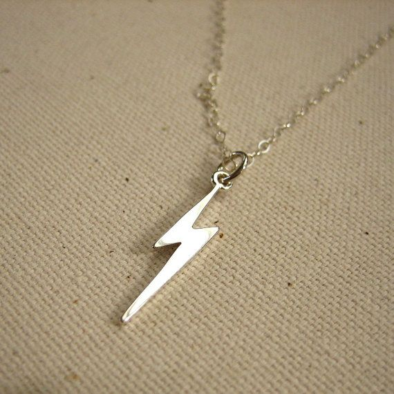 Lightening Bolt Necklace in Sterling Silver Michelle Chang Jewelry
