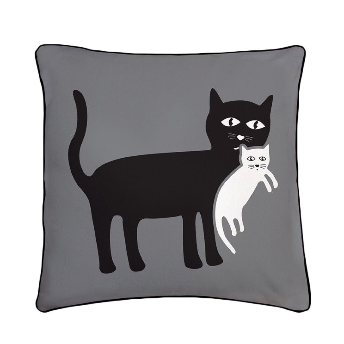Мать кошка и котенок Реверсивный Подушка | Котенок ...