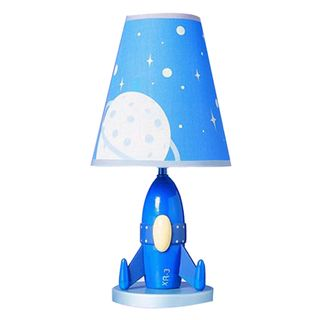 Cal Lighting Kids Rocket Ship Table Lamp Rooms For Tiny