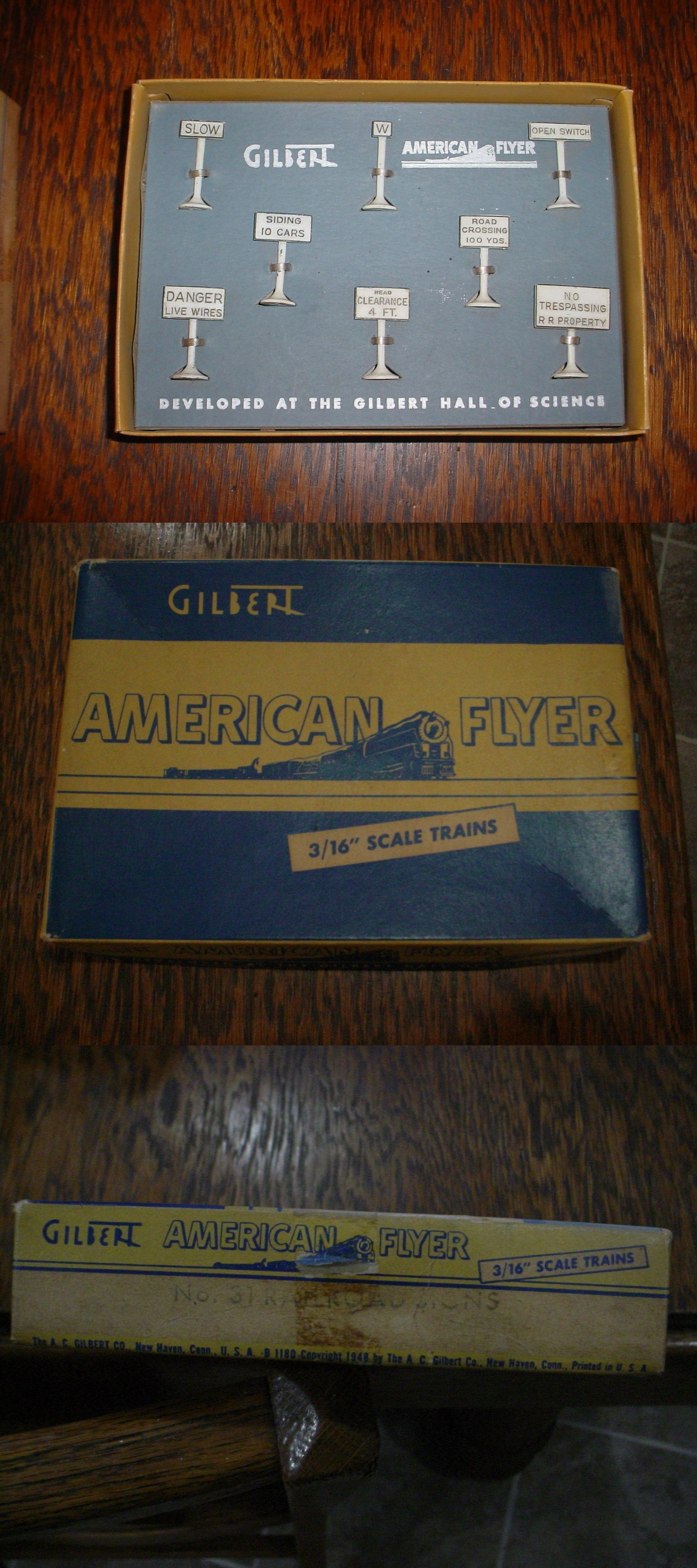 American Flyer Wiring Diagram Highway Flasher House Diagrams Track 180284 31 Railroad Signs Unused In Original Rh Pinterest Com Accessories Trains 1950