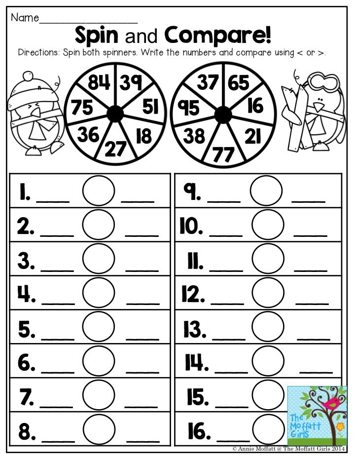 Spin and Compare- Comparing numbers has never been this FUN! | First ...