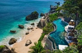 Ocean Beach Pool At Private Hotel Bali