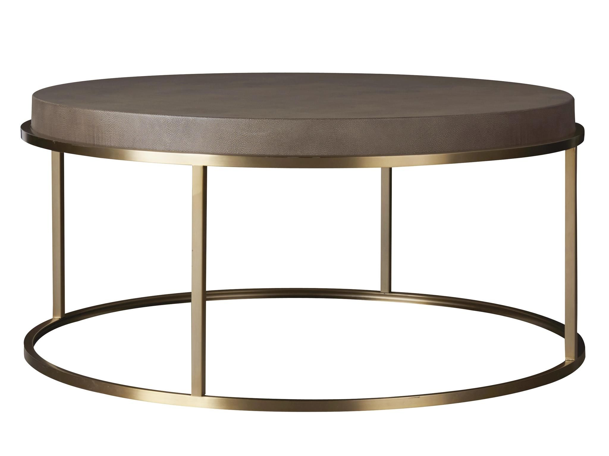 Modern bennett round cocktail table occasional tables