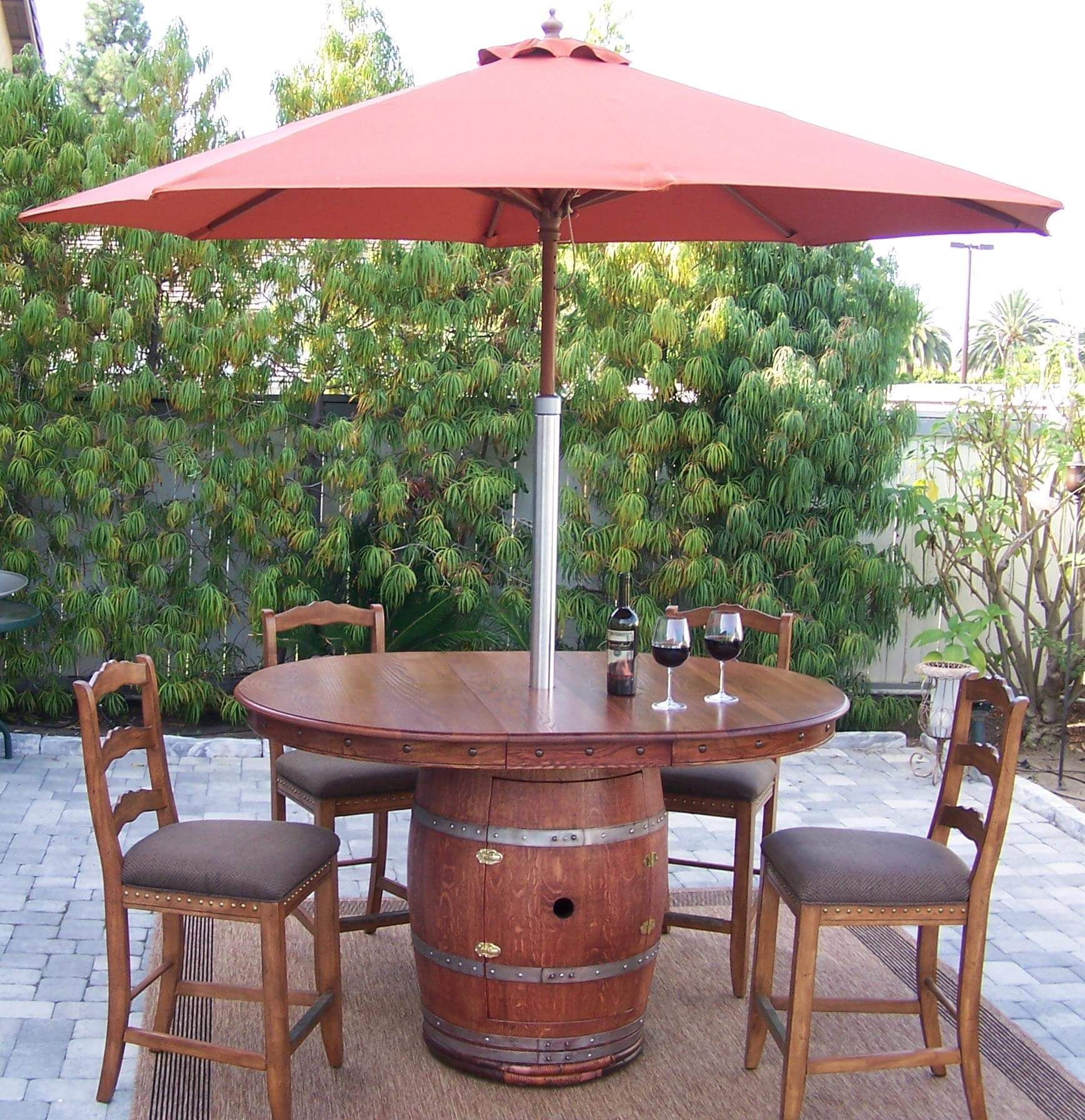 Napa Style Wine Barrel Patio Table