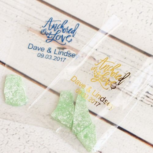Gift Etiquette For Destination Weddings: Personalized Wedding Cellophane Bags