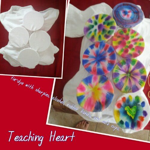 easy no mess tie dye shirts using sharpie markers and alcohol from teaching heart