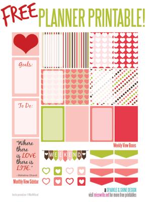 FREE Valentine's Day Weekly Kit