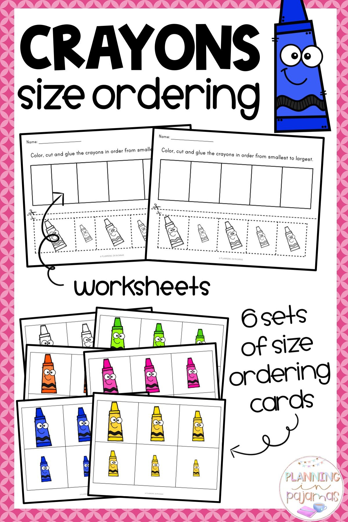 Crayons Size Ordering From Smallest To Largest
