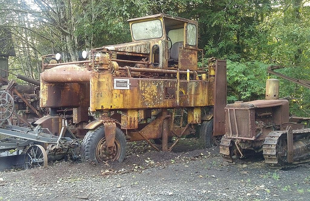 old logging machinery | ... of old logging equipment on ...
