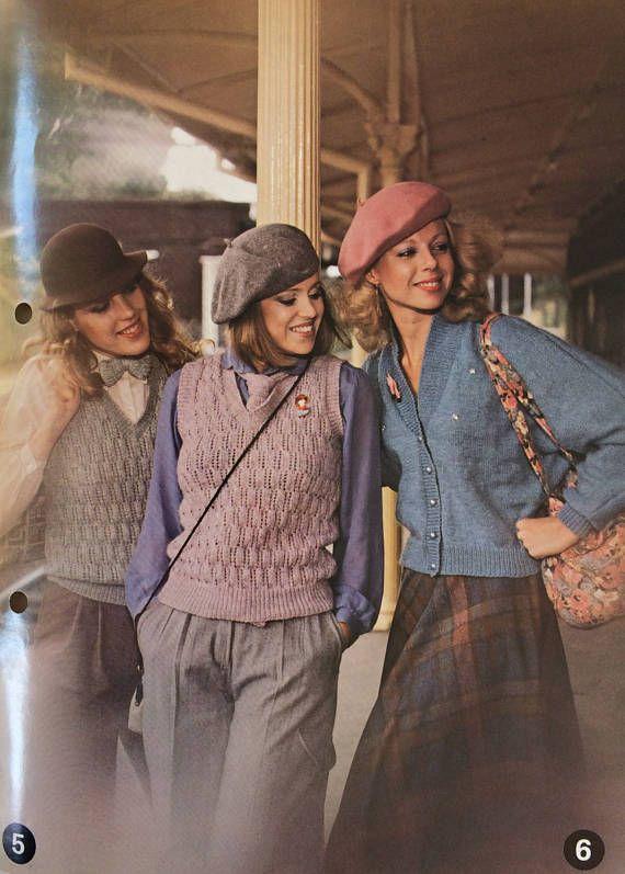 Vintage 1990's Patons Caressa knitting pattern booklet 586