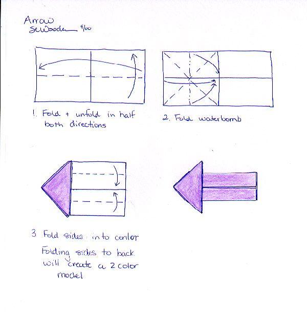Origami Arrow Instructions
