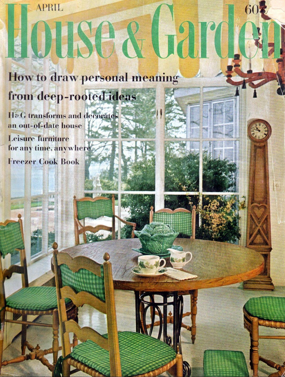 House & Garden - April, 1961 | Outdoor furniture sets ...