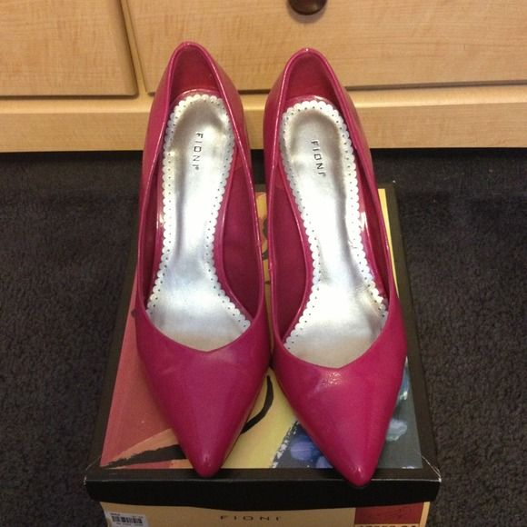 Fuchsia pumps Worn once great condition Fioni Shoes Heels
