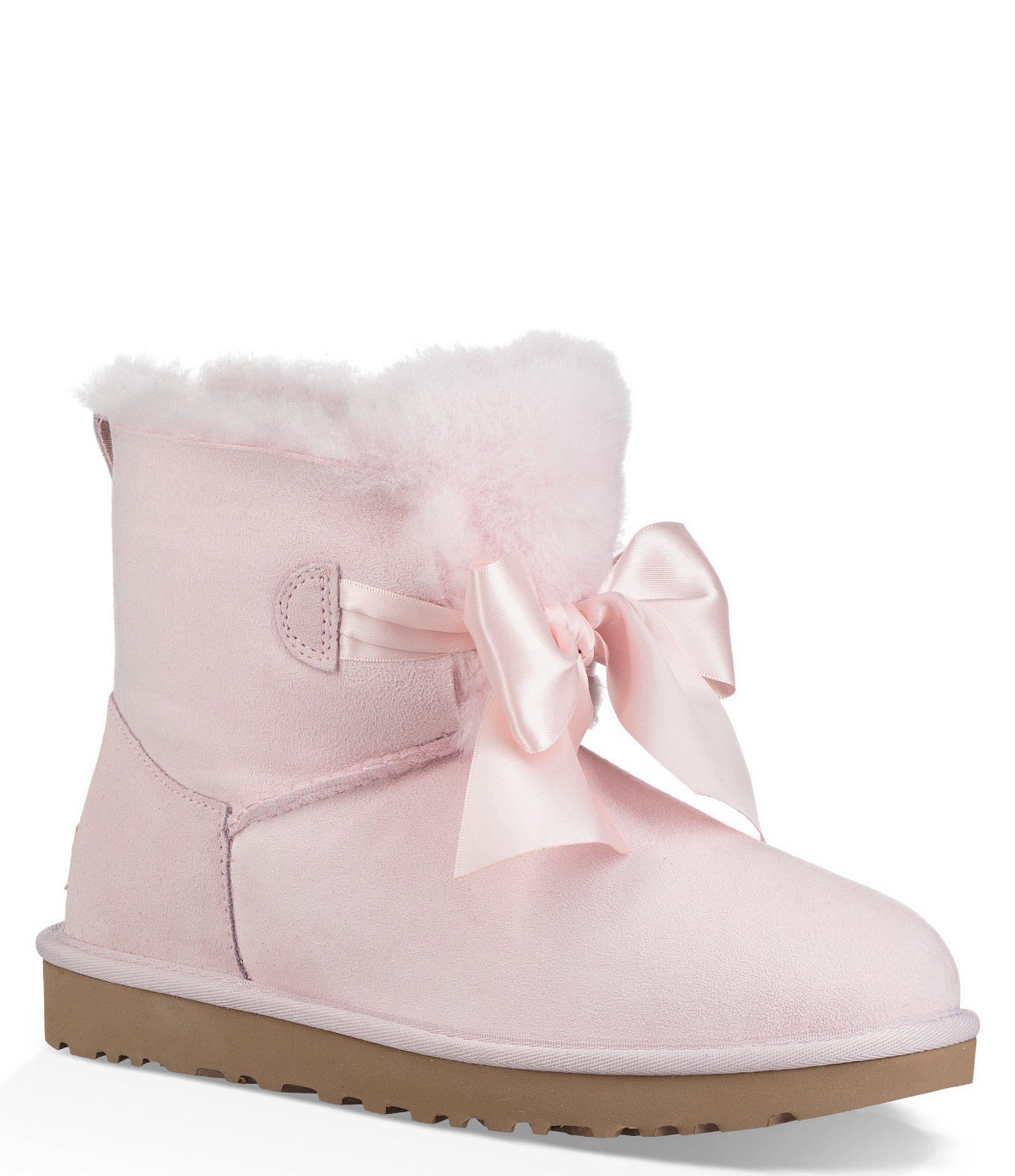 a1e0ed89e02e3 UGG® Gita Bow Mini Booties  Dillards