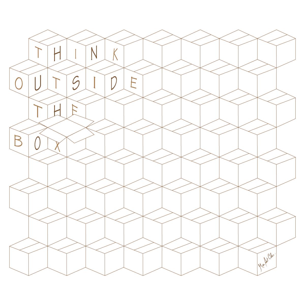 Think Outside the Box - graphisme au minimum