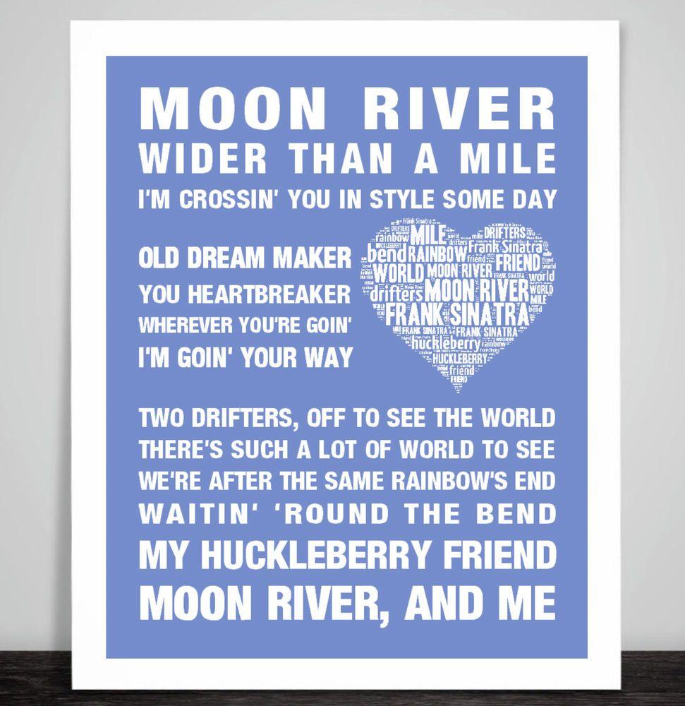frank sinatra moon river music song