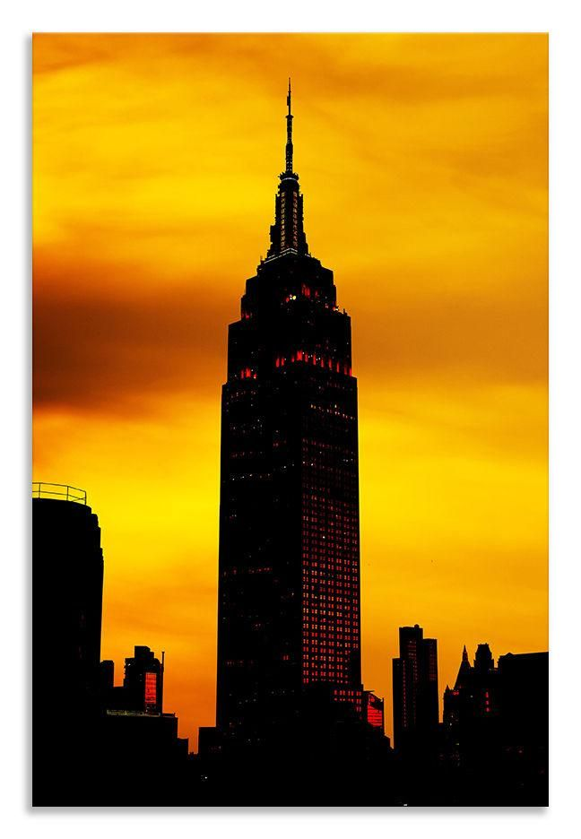 Empire State Building Canvas Abstract Portrait Wall Art Picture Home ...