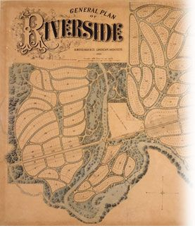Riverside Il Olmsted Planned Community Maps Maps Maps