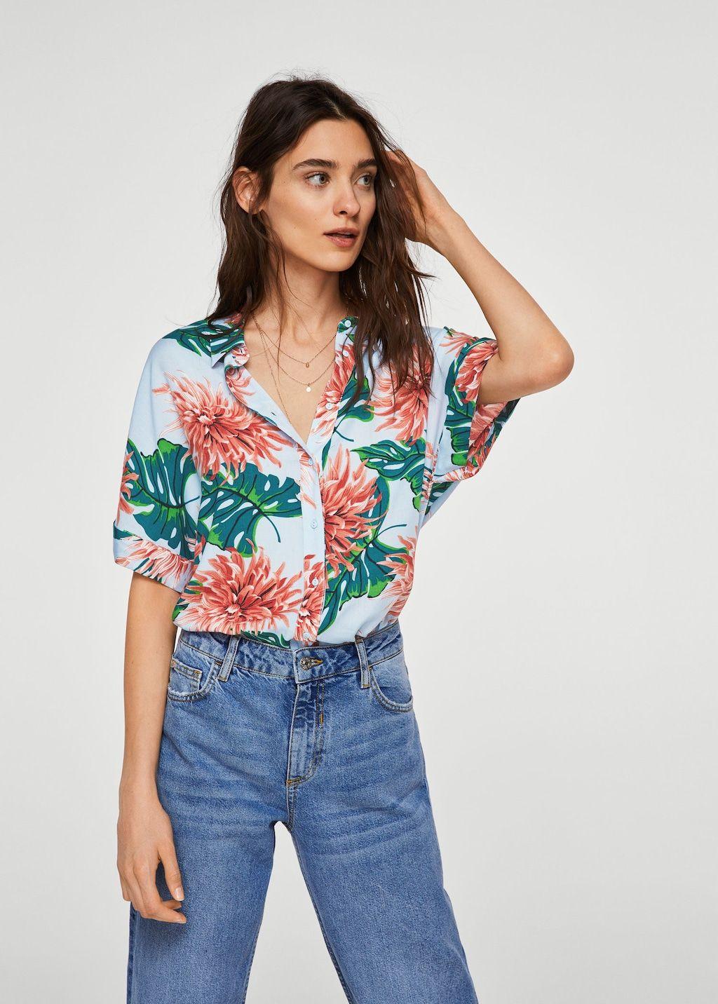 9dbd6b85c Camisa estampado floral - Mujer en 2019 | Style inspo | Camisas de ...