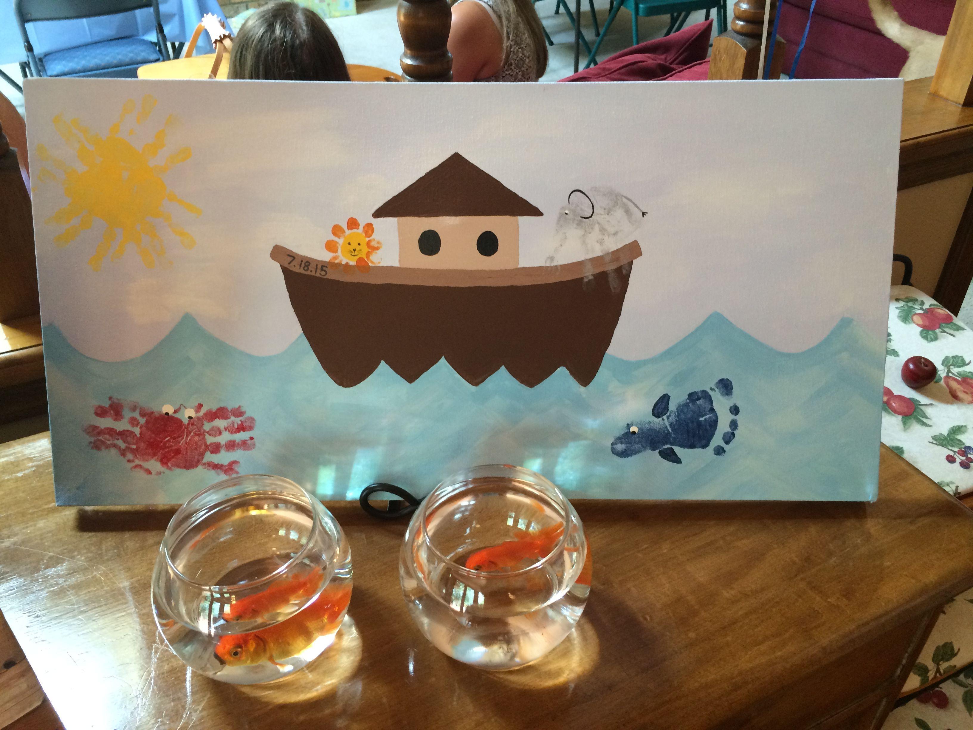 Gannon's Noah's Ark themed baptism!
