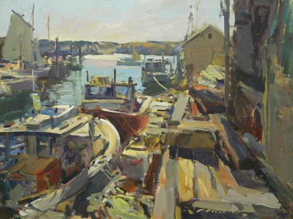 Charles Movalli - Face to Face, Portland Harbor, Maine. Important modern paintings for sale on CuratorsEye.com