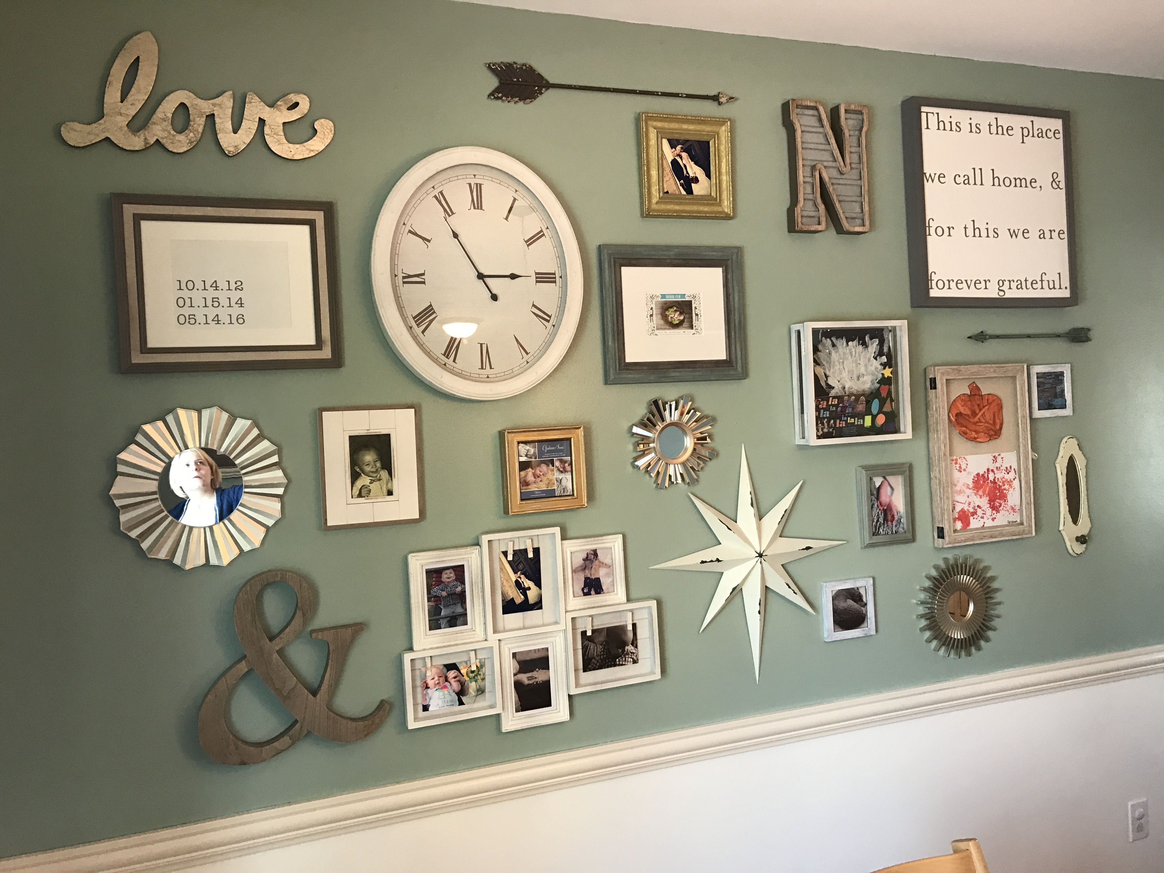 I love the different picture frames and their arrangements for i love the different picture frames and their arrangements for the home pinterest wall pictures gallery wall and walls jeuxipadfo Images