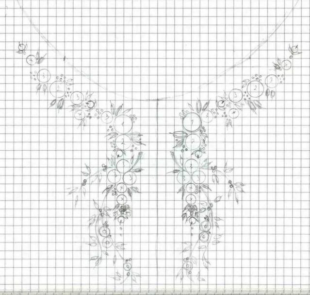 Схемы вышивки цветов рококо