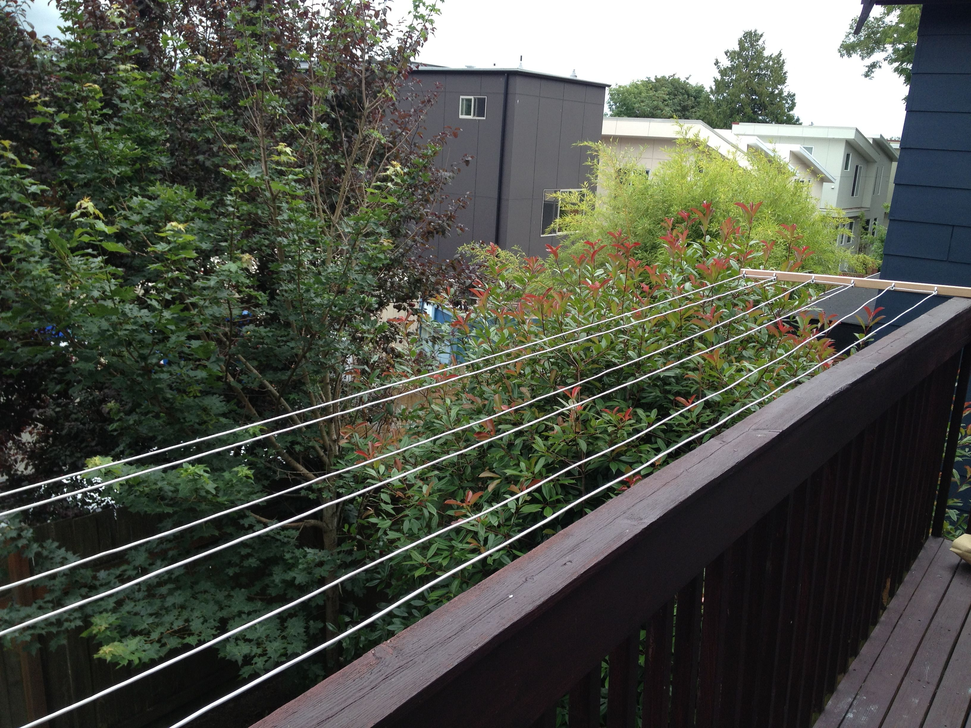 Off The Balcony Clothesline Save Energy And E Great For Apartment Living Only 25 Worth Of Material