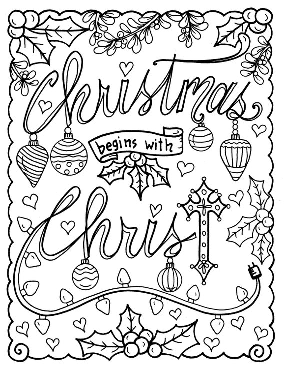 Christian Coloring Age Christmas Coloring Page Color Book Etsy Free Christmas Coloring Pages Nativity Coloring Pages Christian Coloring