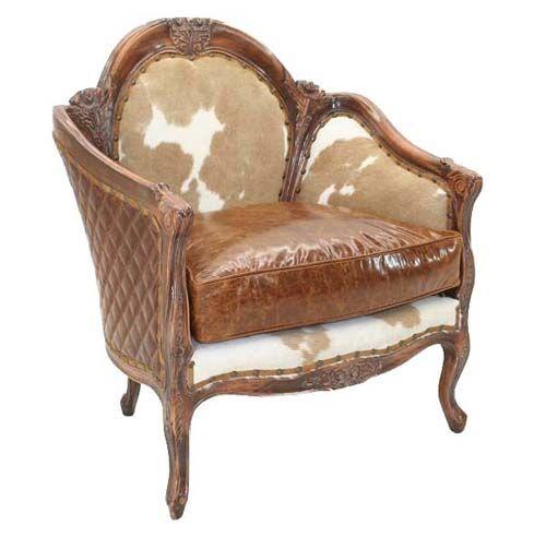 Vintage Western Furniture Elegant Western Accent Chair