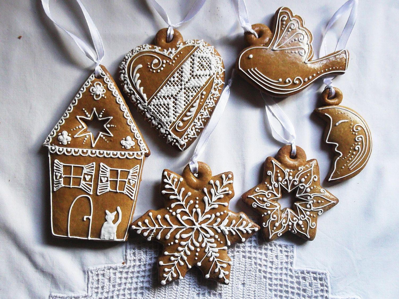 6 klassische lebkuchen weihnachten h ngende von. Black Bedroom Furniture Sets. Home Design Ideas