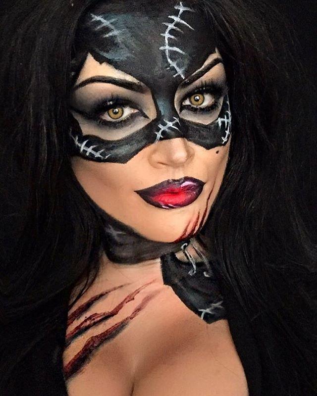 Catwoman Halloween Makeup : catwoman, halloween, makeup, Catwomanmakeup, #catwoman, #makeup, #black, #charactermakeup, #halloweenmakeupideas, #ma…, Halloween, Makeup, Inspiration,, Disney, Makeup,, Looks