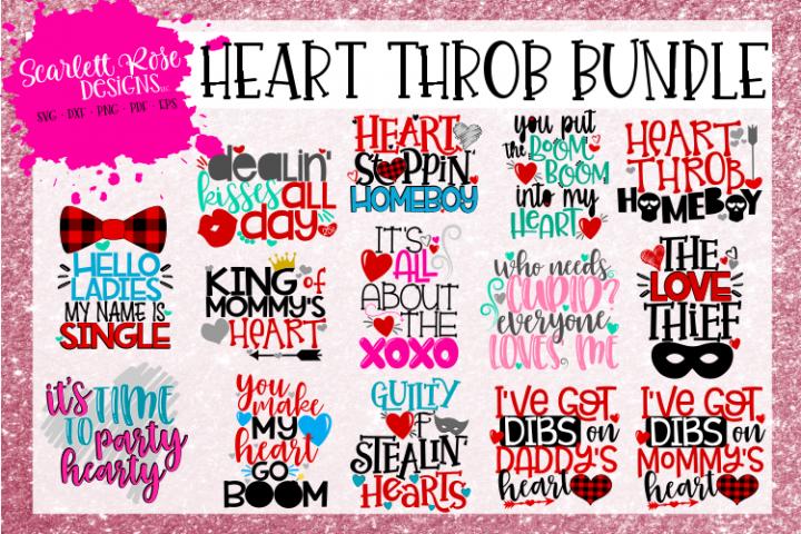 The Heart Throb Bundle Valentines Day Svg Bundle Svg Design Design Bundles