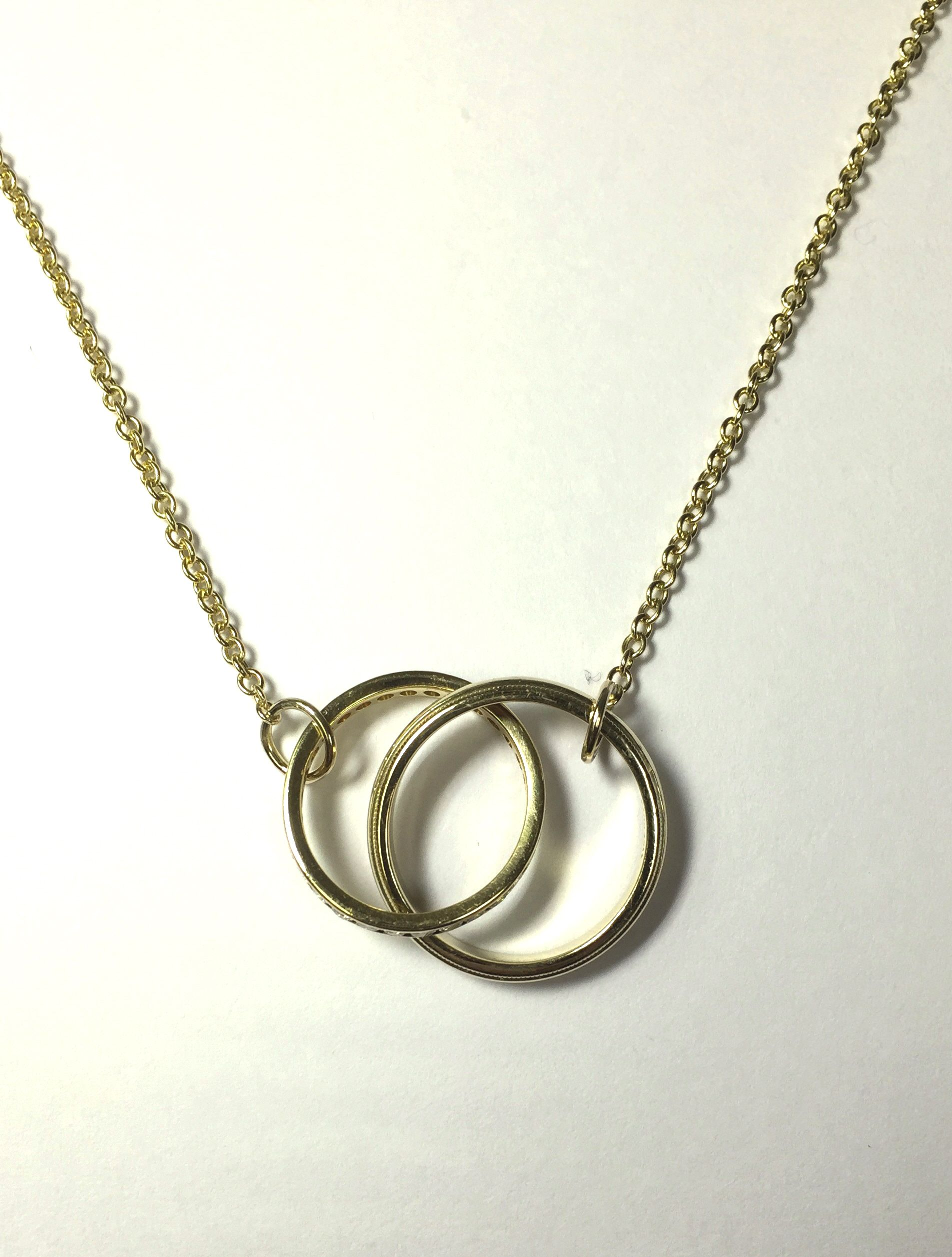 Beloved wedding band made into a necklace pendant