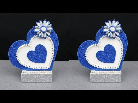 Beautiful Home Decoration Idea With Foam Sheet And Cardboard Best Out Of Waste Youtube Diy Valentines Crafts Diy Valentines Decorations Valentines Diy