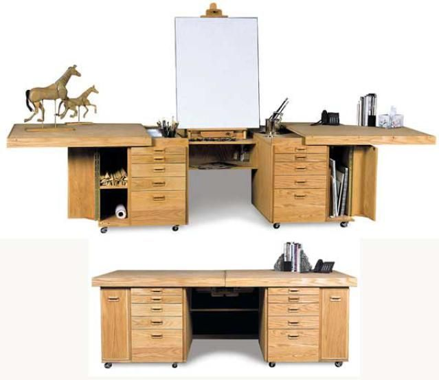 Image Result For Artist Desk With Storage Desk Art Studio At