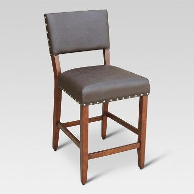 Open Back 24 Counter Stool Chocolate Brown Threshold