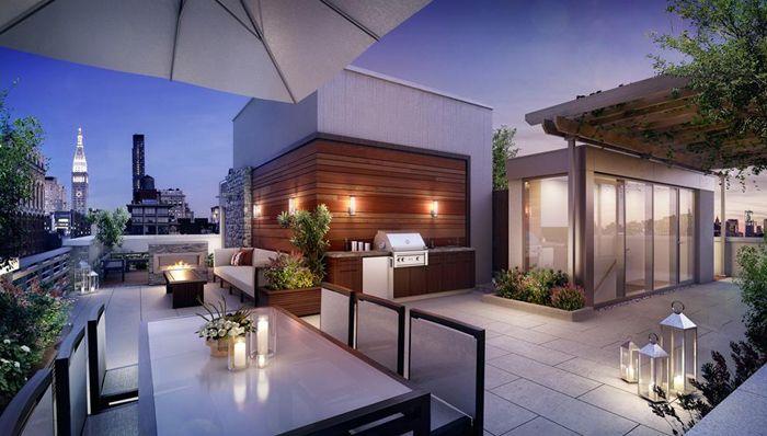 Casas minimalistas y modernas terrazas modernas i for Decoracion de frentes de casas